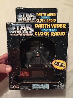 VINTAGE 1995 MGA STAR WARS Darth Vader AM FM Clock Radio Sealed in Box