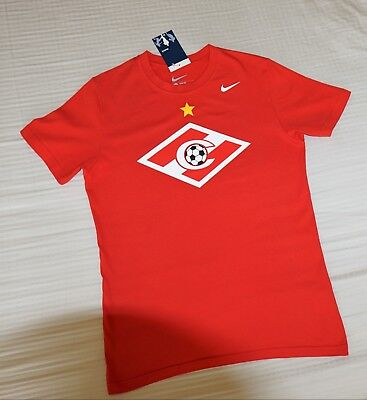 T-shirt men's Spartak Moscow F.C. official NIKE merchandise slim fit size L