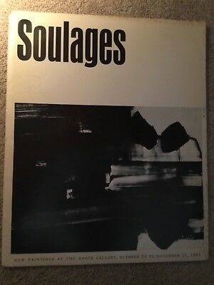 PIERRE SOULAGES -New Paintings at Kootz Gallery -Oct 24 to Nov 11, 1961- Exhibit