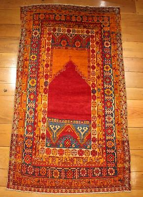 Antique Authentic Hand Woven Turkish Islamic Prayer Rug, NO Reserve!
