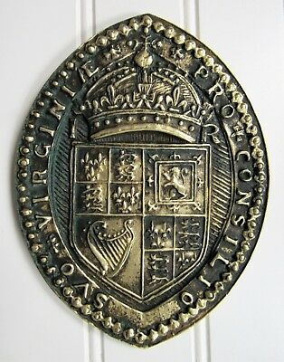 Vintage 1957 JAMESTOWN EXPOSITION~SEAL OF THE COUNCIL FOR WEST VIRGINIA Plaque