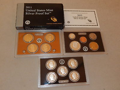 2011-S SILVER United States Mint Proof Set w/National Park Quarters & Pres Doll