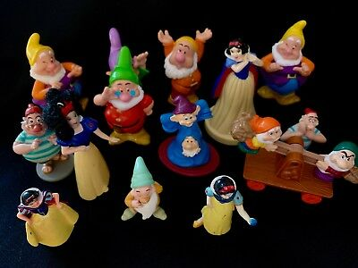 Disney Snow White Action Figure Characters - Dwarves, Snow White Stamp Doll