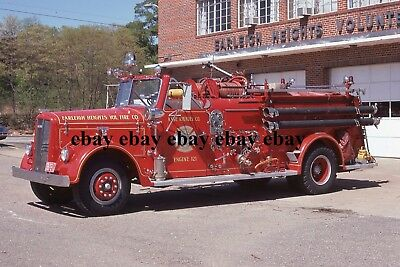 Fire Apparatus Slide - Earleigh Heights MD - 1956 Ward LaFrance Engine 121