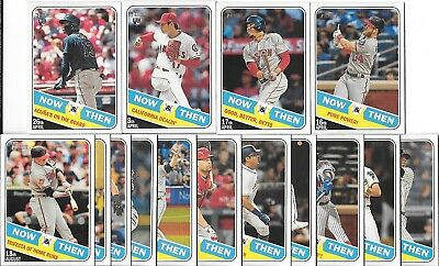 2018 Topps Heritage High Number NOW & THEN Complete Set (15 Cards) Acuna-Ohtani+