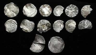 Lot of 18 English Hammered coins, complete list in description