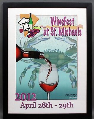 2012 WINEFEST AT ST. MICHAELS MARYLAND Kevin Snelling Poster Print 20x26