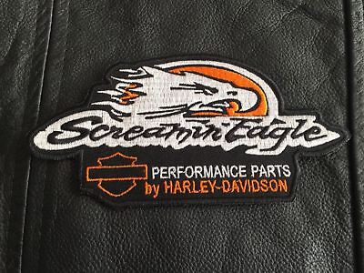 Harley Davidson SCREAMIN EAGLE- Patch-MC Biker Kutte Scull Harley,15,5X7,5cm-Neu