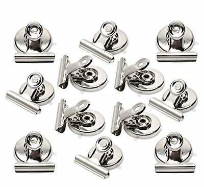 Strong Magnetic Clips - Heavy Duty Refrigerator Magnet Clips - 31mm Wide Scratch