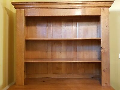 Solid Large Honey-coloured French Oak Dresser Top - Beautiful condition