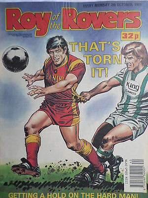 Roy of the Rovers 07/10/89 old football all usual storys + liverpool, grounds