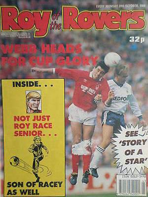 Roy of the Rovers 28/10/89 old football all usual storys + leicester city faces