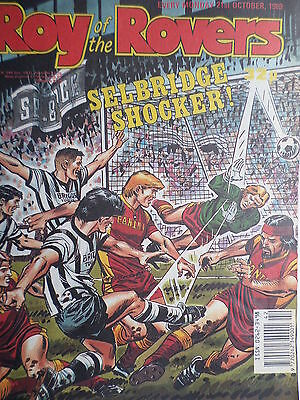 Roy of the Rovers 21/10/89 old football all usual storys + rangers, derby, charl