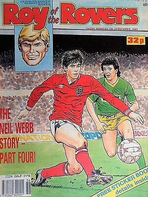Roy of the Rovers 09/09/89 old football all usual storys + pics free p&