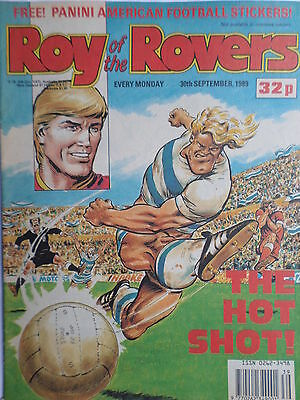 Roy of the Rovers 30/09/89 old football all usual storys + chelsea, garys book