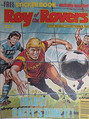 Roy of the Rovers 23/09/89 old football all usual storys + pics free p&p