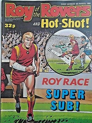 Roy of the Rovers 04/03/89 old football all usual storys + pic free p&p