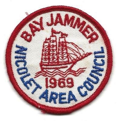 1969 BAY JAMMER patch - NICOLET AREA COUNCIL - Sea Boy Scout BSA 12/8