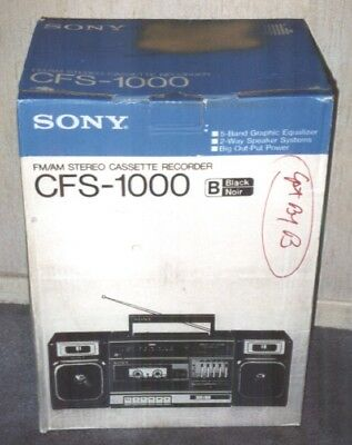 Sony Model CFS-1000 Portable Boombox Cassette Player AM FM Radio New in Box