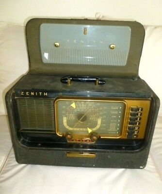 Very Nice Zenith H500 Trans Oceanic Radio W/ 5H40 Chassis (No Breaks Chips Etc.)