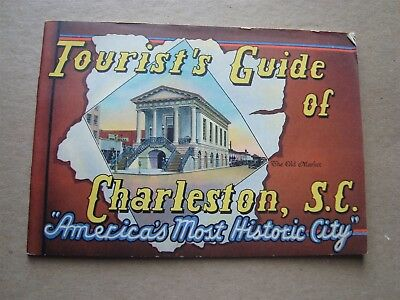 Vintage Tourist's Guide Of Charleston, S.c. Travel Brochure Lot #2
