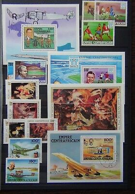 Central African Republic 1978 Paintings set & M/S 1978 Aviation M/S VFU