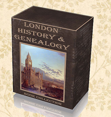 610 History & Genealogy of London Books on 3 DVDs - England Parish Registers B0