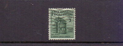 Italy - Social Republic 1944 3L Monument Used