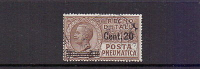 ITALY 1925 20c ON 10c PNEUMATIC POST FINE USED