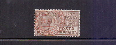 ITALY 1913 10c PNEUMATIC POST FINE USED