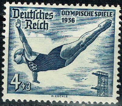 Germany Third Reich Berlin Summer Olympic Games stamp 1936 Diving MNH