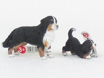 NEW Schleich BERNESE MOUNTAIN DOG Mom & Puppy NEW WITH TAGS