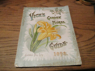 1898 Vick's Garden and Floral Large Catalog!!