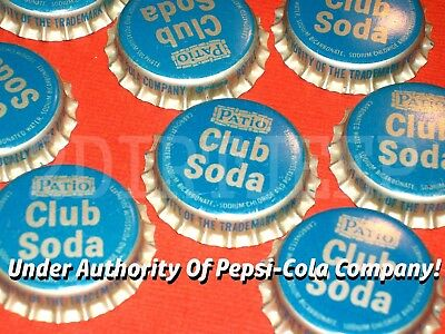 10 Pepsi-Cola Patio Club Soda Pepsi Vintage Pop Cork Unused Bottle Cap Cf Uc0027
