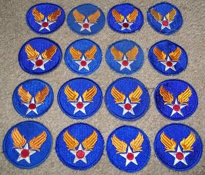 Lot Of 16 Original Cut-Edge Ww2 U.s. Air Force Hq / Command Patches (3 Glow)