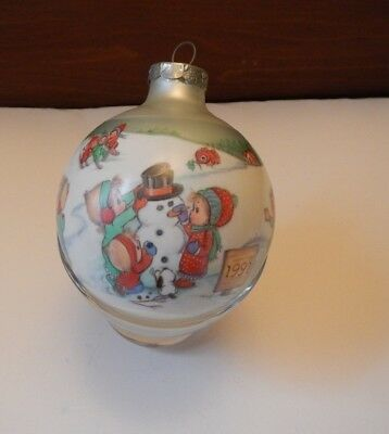 1991 Betsey Clark Betsy Favorite Friends Together Glass Ball Hallmark Ornament