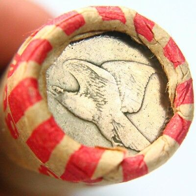 1858 Flying Eagle & Lincoln Wheat Penny on Ends of a Wheat Cent Roll 3291