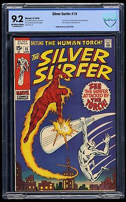 Silver Surfer #15 CBCS NM- 9.2 Off White to White