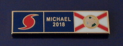 HURRICANE MICHAEL 2018 Florida GOLD Uniform Award/Commendation Bar pin FL police
