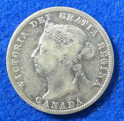 1901 Sterling Canandian Quarter Dollar  *Victoria - Key Date - Low Mintage *