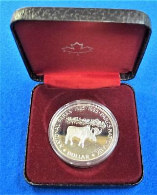 1985 Royal Canadian Mint 100th Anniv.  The National Parks Of Canada *50% Silver