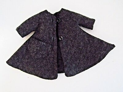 Vintage 8 Betsy McCall 1957 B-1 Charcoal Gray Coat ONLY BLACK Buttons READ