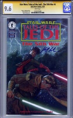 STAR WARS TALES OF THE JEDI The SIth War #5 CGC 9.6 SS KEVIN J. ANDERSON