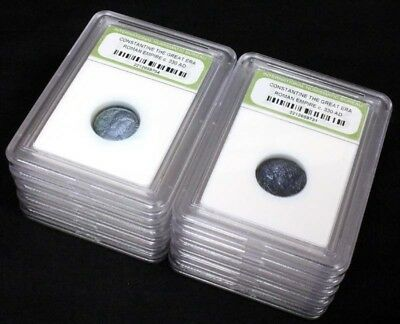 10 Slabbed Ancient Roman Constantine the Great Coins Nice Quality c 330 AD a8