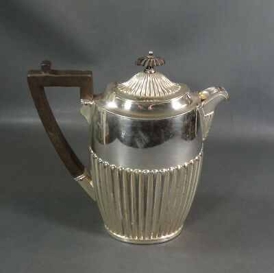 Antique English Silver-plated Teapot Pleasance Harper EPNS Ebony Handle & Knob
