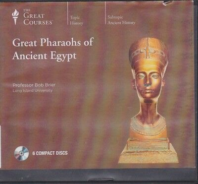 GREAT PHARAOHS OF ANCIENT EGYPT by THE GREAT COURSES ~6 CD'S + 12 LECTURES