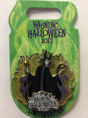 Disneyland WDW Disney Parks 2017 Villains Haunting Halloween MALEFICENT LE Pin