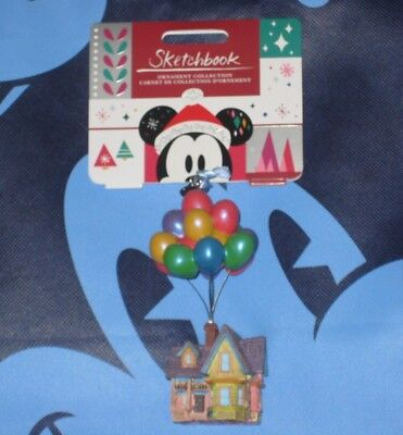 UP HOUSE Disney Store Sketchbook Ornament. Brand New. 2018.