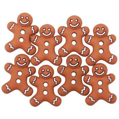 Dress It Up Button Embellishments - ICED COOKIES - Gingerbread Men