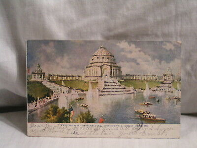 1904 St Louis Worlds Fair Post Card Of The Festival Hall And Cascades